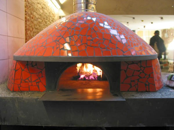 Neapolitan style brick oven front