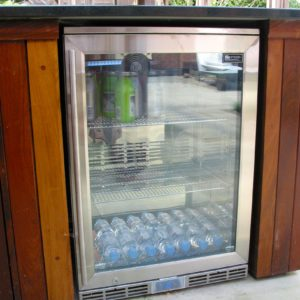 Outdoor kitchen,Blastcool outdoor fridge,