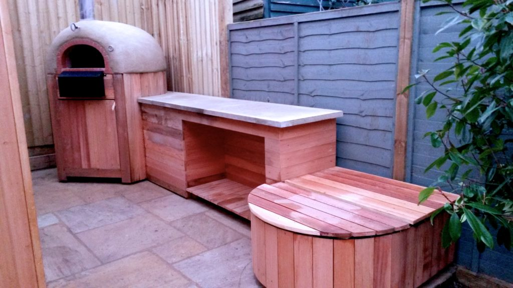 Oven and prep in cedarwood