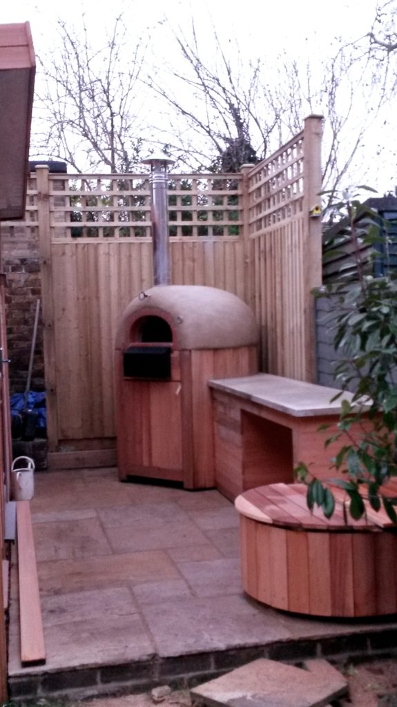 F800 brick oven and stone prep work surface
