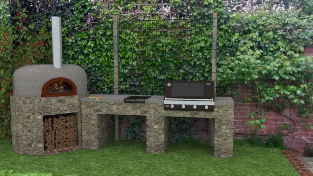 Outdoor kitchen hethe design cgi