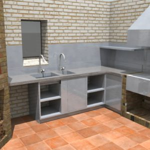 Fire kitchen, Design proposal, private estate, Ewelme, pizza oven, smokers, spit roast