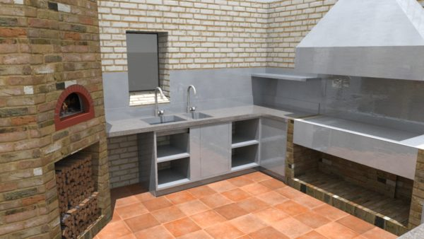 Design proposal, private estate Ewelme, pizza oven,