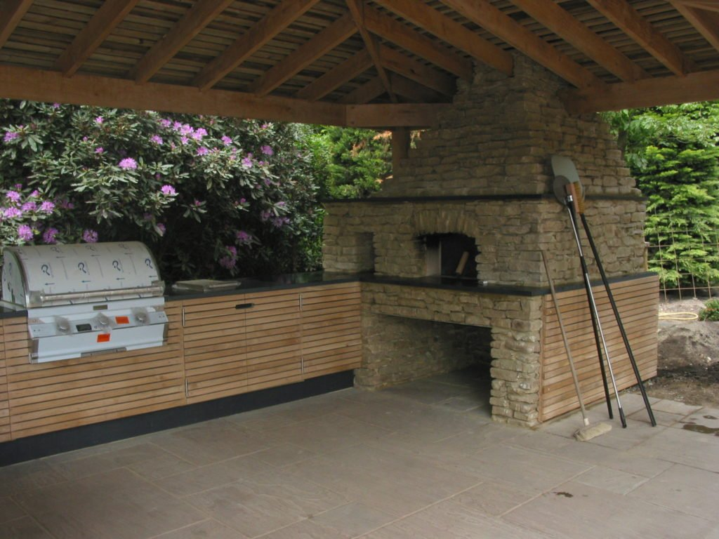 Stone clad oven and BBQ