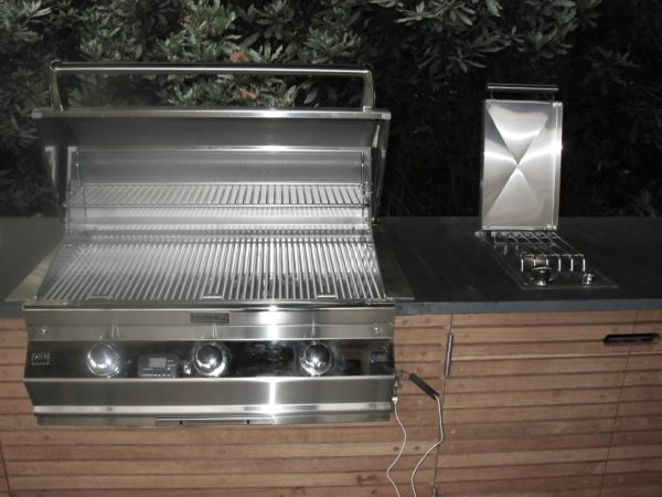 Firemagic gas BBQ and sideburner