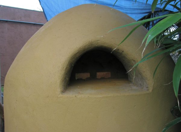 rare species conservation centre cob oven, clay oven