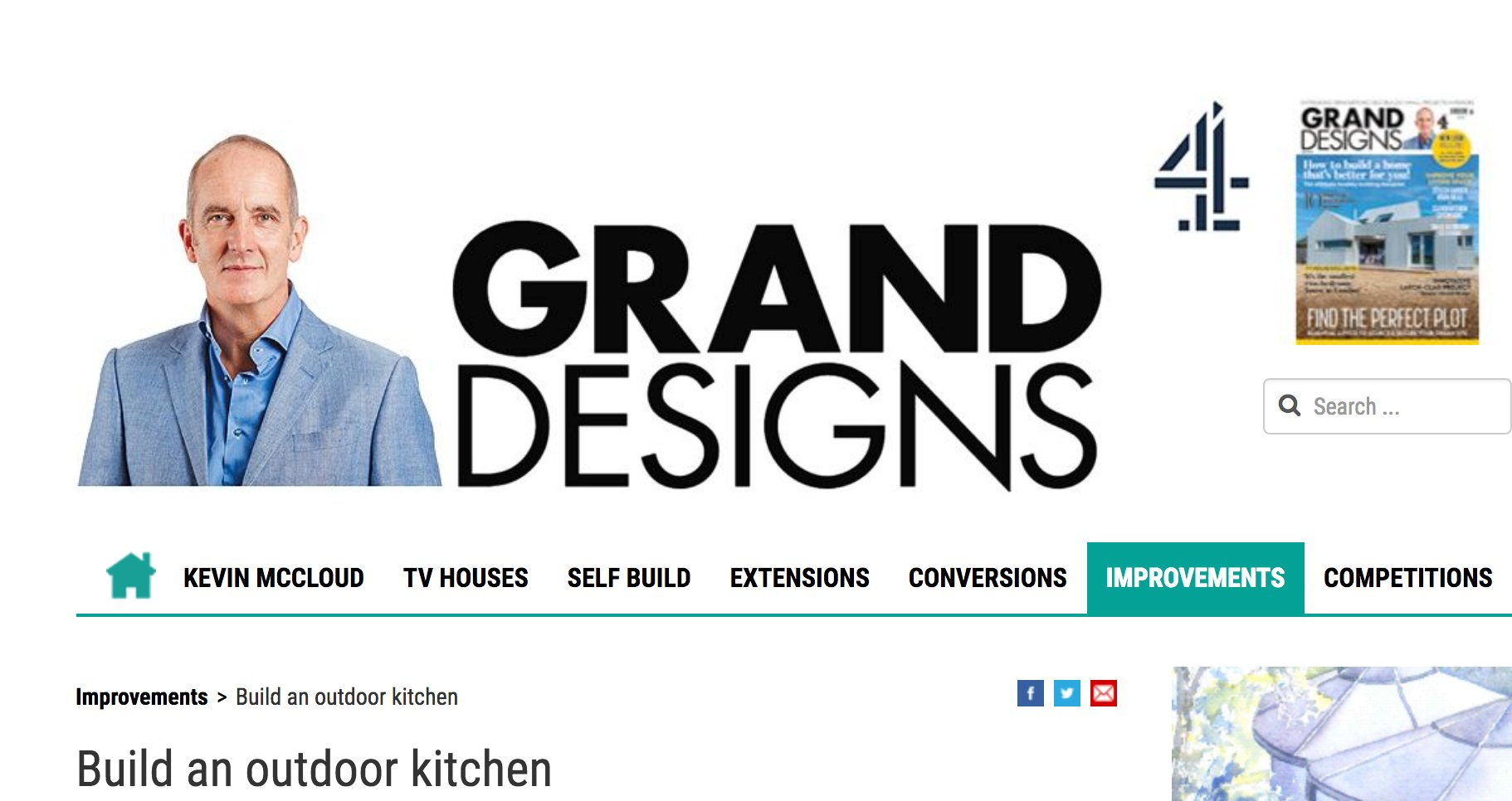 grand designs, magazine, outdoor kitchen