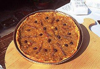 pissaladiere, recipe, provencal flatbread,
