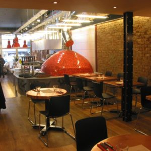 eco restaurant, pizzeria, clapham, brick oven, neapolitan style wood-fired oven,