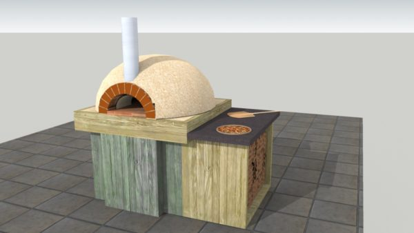 Georgina Steward clay cob, clay cob pizza oven