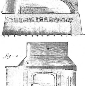 History of wood-fired ovens,Drawing of typical oven design