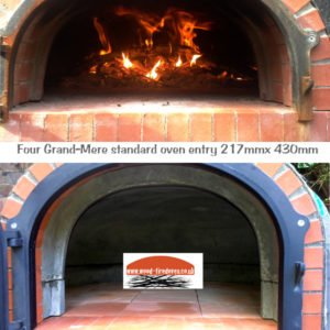 four grand-mere wood-fired oven dome height