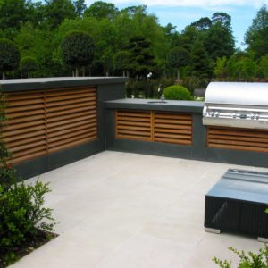 outdoor kitchen design, stone, Firemagic bbq,