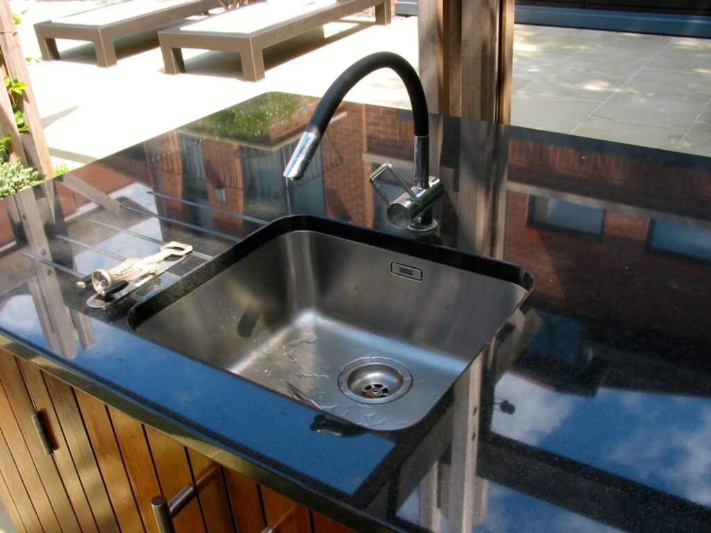 outdoor kitchen, Arwa tap, outdoor living, Wimbledon, London
