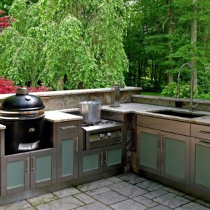 outdoor kitchen, Kamado, grill