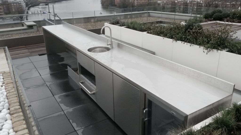stainless steel, outdoor kitchens, outdoor kitchens, roof kitchens, view from roof, Mount Anvil,