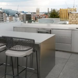 stainless steel outdoor kitchens, outdoor kitchens, roof kitchens