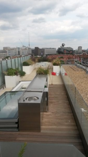 Stainless steel outdoor kitchens in Hammersmith London 3