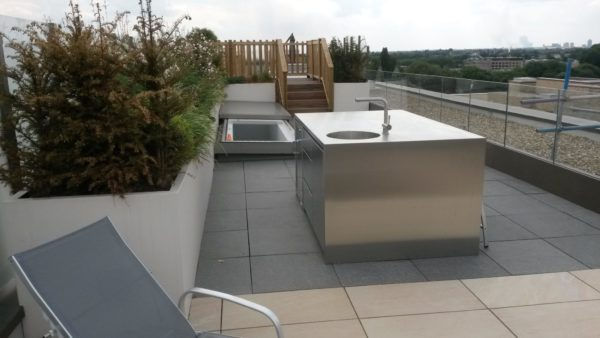 Stainless steel outdoor kitchens in Hammersmith London 2