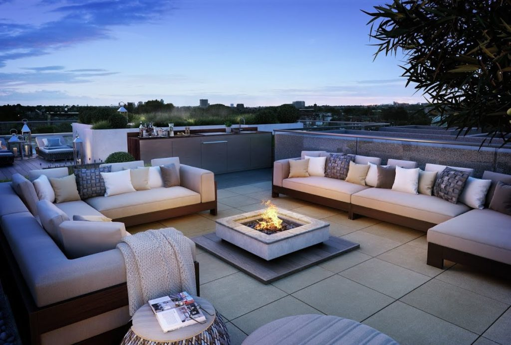stainless steel, outdoor kitchens, outdoor kitchens, roof kitchens, view from roof, Mount Anvil, Queens Wharf,