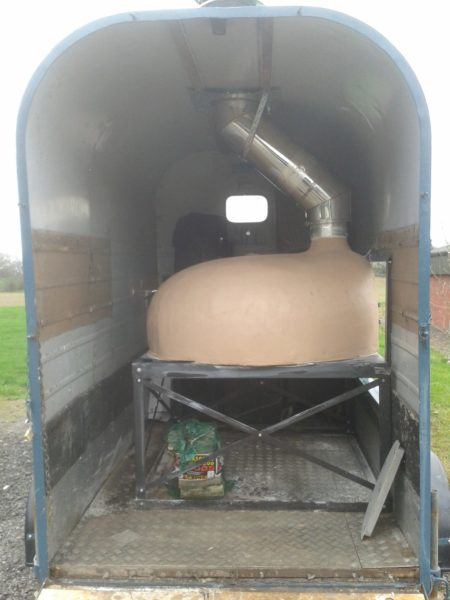 Horse box pizza oven, Leather and Willow, Four Grand Mere, F1030CC+, Le Grand Flamme, mobile catering, wood-fired oven