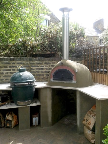garden cooking station, Nunhead,London, Big Green Egg