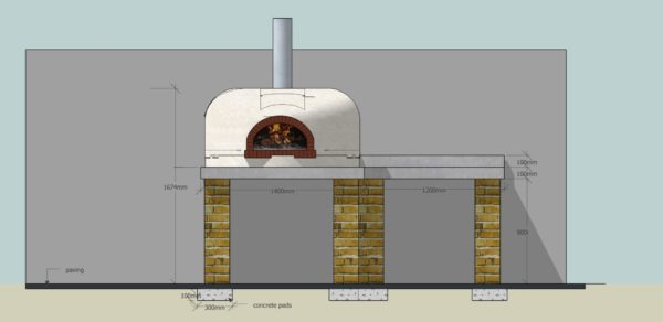 A stylish oven, cgi, four grand-mere, wood fired oven, pizza oven
