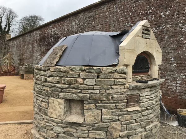 outdoor kitchen, walled garden oven, Corsley House, BA12, outdoor oven, wood-fired oven, outdoor cooking, four grand-mere