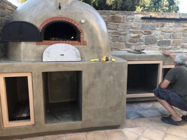 brick oven Paros, wood-fired oven, Four Grand-mere, F950, brick oven, Gourmet oven, outdoor kitchen,