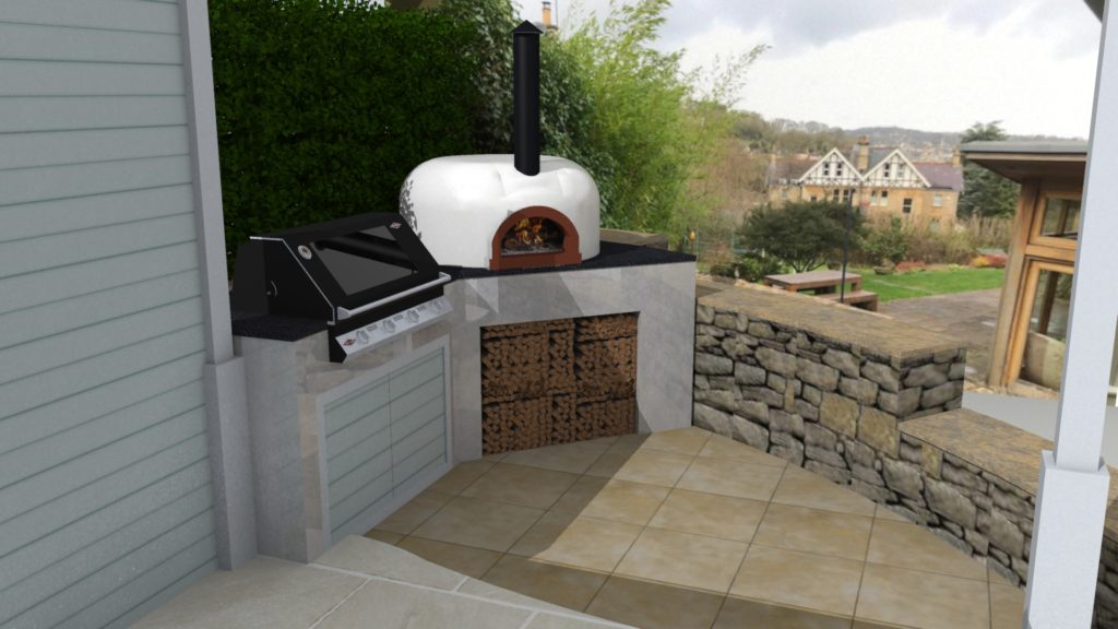 ALF pizza oven, wood-fired oven, four grand-mere, outdoor kitchen, outdoor cooking, garden oven, bbq area, Bath