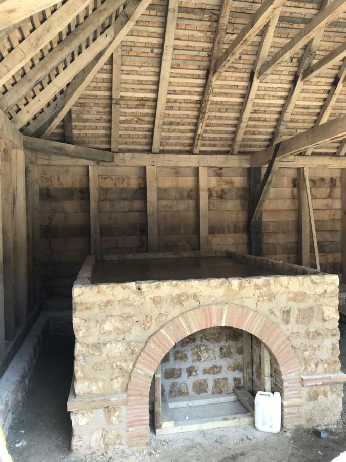 Roman bakery oven, bread oven, wood-fired, Emily estate, Roman villa and museum, Castle Cary, Bruton,