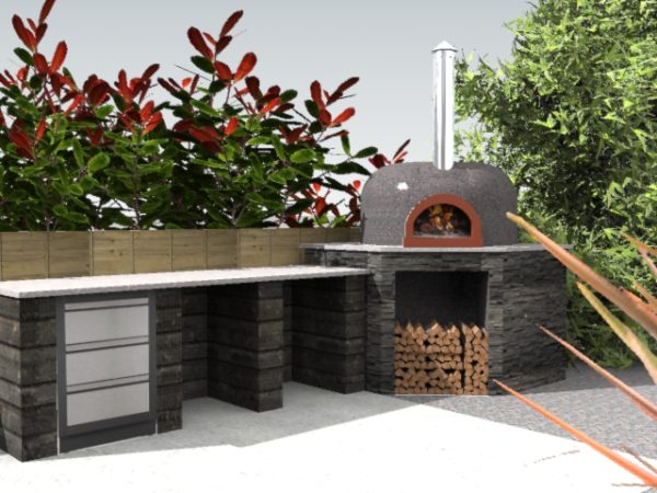 Farnham Common, Buckinghamshire, F950, four grand-mere, brick oven, wood-fired oven, outdoor kitchen,